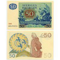 Швеция. 50 крон (образца 1986 года, P53d, aUNC)