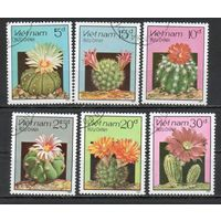 Цветущие кактусы Вьетнам 1987 год 6 марок