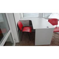 Стол  офисный угловой с тумбочкой