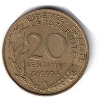 Франция. 20 сантимов. 1970 г.