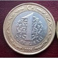 Турция 1 лира, 2009г