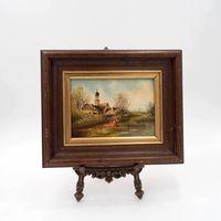 Картина маслом Сельский пейзаж. Германия. Арт. 193