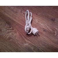 Шнур с вилкой 2х-полюсный от гирлянд