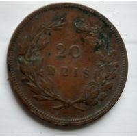 Португалия 20 рейсов, 1892  2-7-12