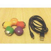 USB-концентратор Gembird в форме ромашки (четыре USB-порта)