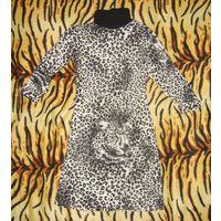 Костюм деми-зима леопардовый р.S 42-44 туника+юбка