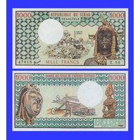 [КОПИЯ] Чад 1000 франков 1974г.
