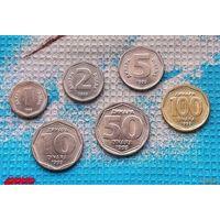 Югославия набор монет  1, 2, 5, 10, 50, 100 Динар 1993 года. Сербия, Черногория, Воеводина, Косово и Метохия UNC. RRR.