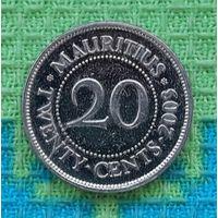 Маврикий 20 центов 2003 года
