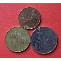 Словакия, 3 разные монетки