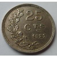 """Люксембург 25 сантимов 1927 """"Герб"""""""
