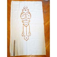 Вышивка-ришелье, льняные шторы (126х77, 2шт. )