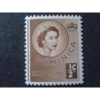 Доминика, колония Англии 1954 королева Елизавета 2