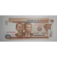 Филиппины 10 песо, 1999 года, UNC