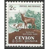 Цейлон. Национальный заповедник. Олень. 1958г. Mi#296.