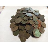 Лот из 143 монет для опытов с 1 рубля