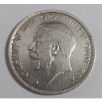 1/2 кроны.(пол кроны) 1915 г. Великобритания. Серебро 925