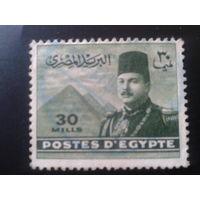 Египет 1939 король Фарук, пирамида