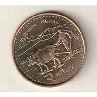 Непал 2 рупия 2006-2009