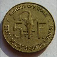Западная Африка  5 франков 1976 г