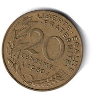Франция. 20 сантимов. 1980 г.