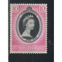 GB Колонии Малайя Джохор Омнибус 1953 ЕII Коронация #140*