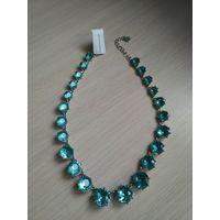 Ожерелье, колье голубые камни, Charter Club