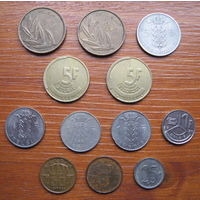 Бельгия. Набор монет.