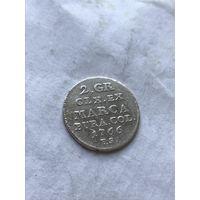 2 гроша 1766г.