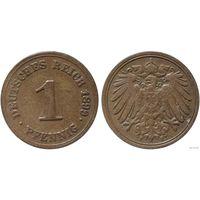 YS: Германия, Рейх, 1 пфенниг 1899F, KM# 10 (2)