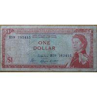 Восточные Карибы 1 доллар 1965г. (Антигуа)
