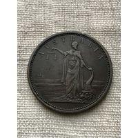 Австралия 1 пенни 1857 г, редкая, большая монета