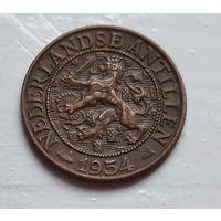 Нидерландские Антильские острова 1 цент, 1952  4-4-52