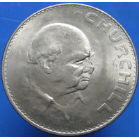 Великобритания 1 крона 1965 Черчиль БОЛЬШАЯ (2-21)