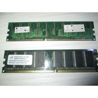 Оперативная память DDR-400 PC3200. 2 планки по 256Мб. Цена за обе.