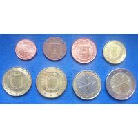 Мальта 1, 2, 5, 10, 20, 50 евроцентов, 1, 2 евро 2008-2018