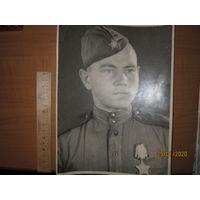 Фото солдата 1945 г. , орден Славы
