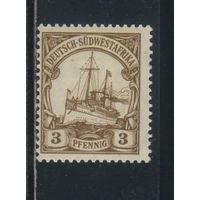 Германия Колонии Юго-Восточная Африка 1906 Яхта Гогенцоллерн Стандарт Wz1 #24**