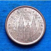 Испания 1 евроцент 2012