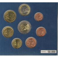 2 и 1 евро, 50, 20, 10, 5, 2 и 1 евроцент 2008 г.