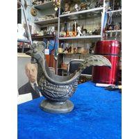 Пепельница Петушок, силумин, 12*15 см.