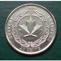 Канада 25 центов 2006 памятный квотер - Награда за храбрость (UNC)