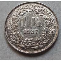 Швейцария 1 франк 1937 г.