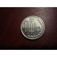 10 сентаво 2002 года Мексика