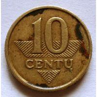 10 центов 1998 Литва
