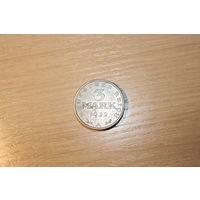 3 марки 1922 года, А, Германия.