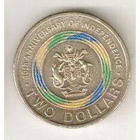 Соломоновы Острова 2 доллар 2018 40 лет Независимости