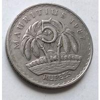 Маврикий 5 рупий, 1987 1-13-30