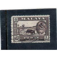 Малайзия. Перак. Mi:MY-PK 105. Юссуф Идддин Шах и бык. 1957.