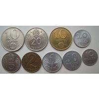Венгрия 20-10-5-2-1 форинт, 10-20-50 филлеров. Набор 9 монент (u)